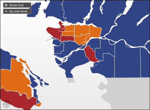 Vancouver-Victoria Election Map
